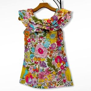Liberty of London Floral Ruffled Blouse